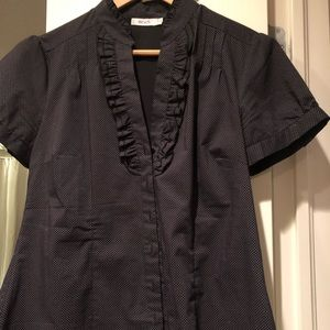 Short sleeved black dress shirt